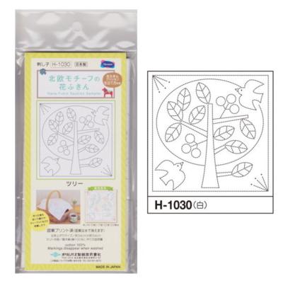 ツリー 白 花ふきん布パック H-1030