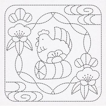 オリムパス 花ふきん布パック 酉と松竹梅 白 H-1027