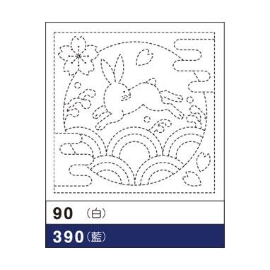 オリムパス 花ふきん布パック うさぎと青海波