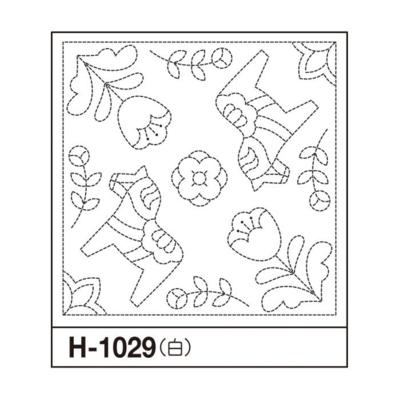 オリムパス 花ふきん布パック ダーラナホース 白 H-1029