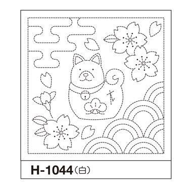 オリムパス 花ふきん布パック 戌とさくら 白 H-1044