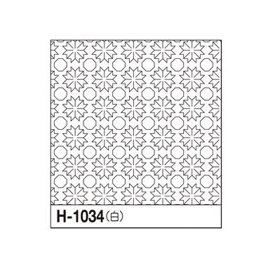 オリムパス 一目刺しの花ふきん布パック 菊の花 白 H-1034