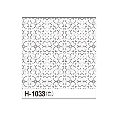 オリムパス 一目刺しの花ふきん布パック 桜の花 白 H-1033