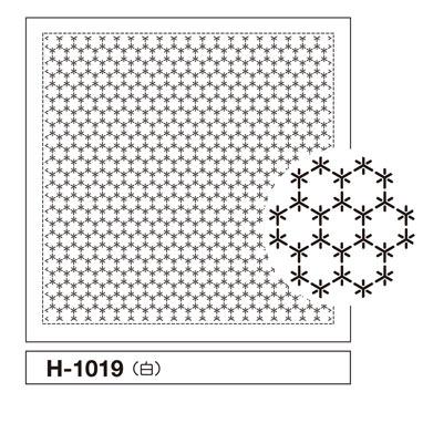 オリムパス 一目刺しの花ふきん布パック 角亀甲つなぎ 白 H-1019
