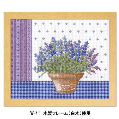 ラベンダーとテラコッタの鉢 刺繍キット No.7480