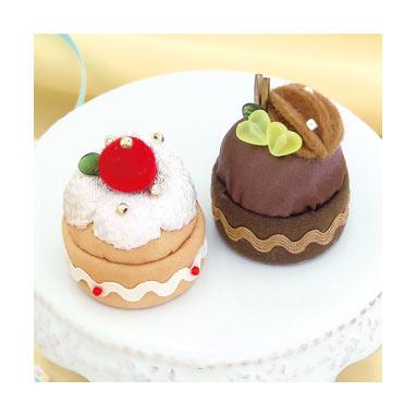 PA-726 オリムパス パッチワークキット スイーツマグネット いちごのケーキとチョコケーキ