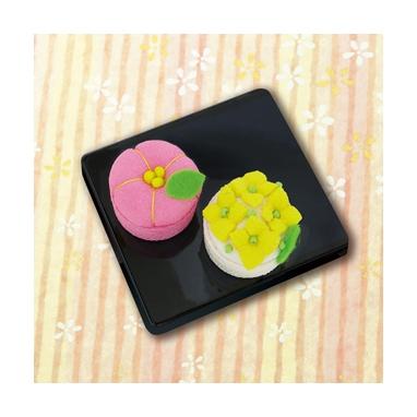 梅と菜の花 和菓子マグネット パッチワークキット PA-689