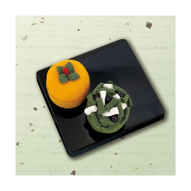 柿と黒松 和菓子マグネット パッチワークキット PA-691