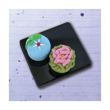 朝顔とバラ 和菓子マグネット パッチワークキット PA-692