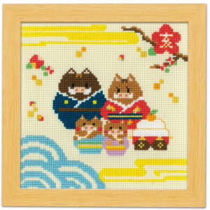 No.7505 イノシシ家族と鏡餅