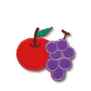 りんごとぶどう 1個入り たのしいアップリケ 869-28