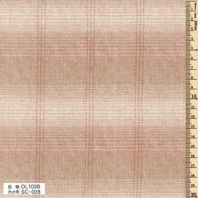 SC-028 先染木綿 カット布 グラデーション・ボーダー 約35cm×50cm
