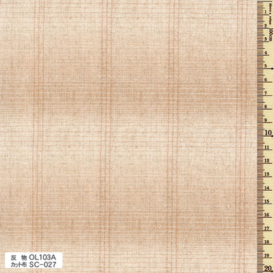 SC-027 先染木綿 カット布 グラデーション・ボーダー 約35cm×50cm