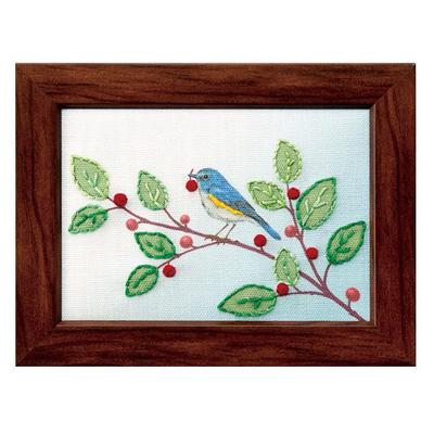 青い鳥のランチタイム 刺繍キット No.70002