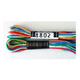 No.8802 25番刺しゅう糸 カラフル