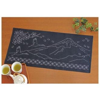 テーブルセンター 富士と七宝つなぎ 刺し子キット SK-291