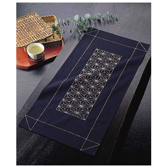 テーブルセンター 麻の葉 刺し子キット 刺し子170