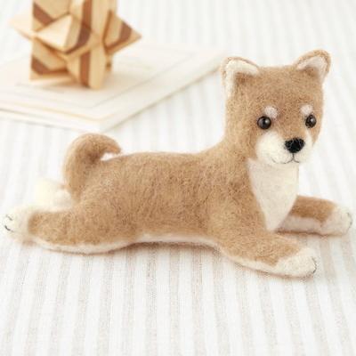 H441-424 ハマナカ フェルトキット 柴犬(ふせポーズ)