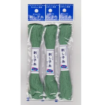 オリムパス 刺し子糸 袋入り No.7 緑 20m