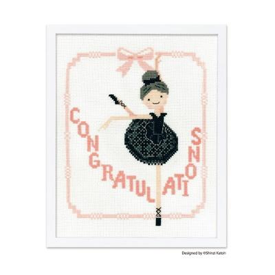 No.7497 オリムパス 刺繍キット Ballerina (バレリーナ)