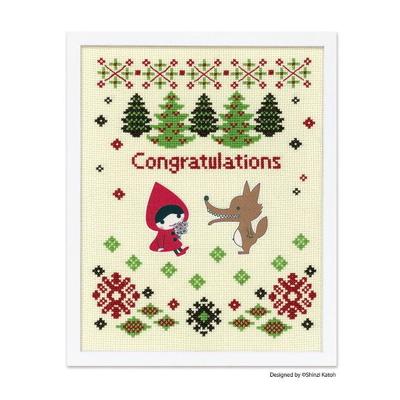 No.7496 オリムパス 刺繍キット Red Hood & the Wolf (レッドフード アンド ザ ウルフ)