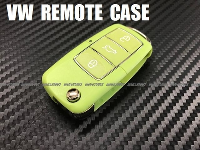 VW フォルクスワーゲン 交換用 リモコンケース キーレスカバー ブランクキーケース 鍵 薄緑系色