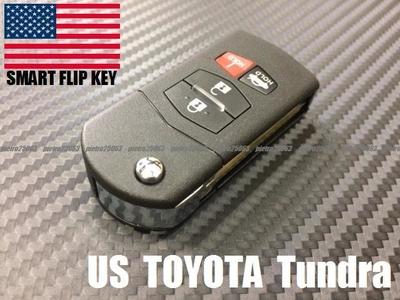 07y- USトヨタ タンドラ ブランクキーカスタム品 ジャックナイフタイプ キーレス リモコン 一体型 フリップキー 鍵 TYPE414