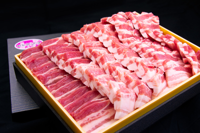 【冷凍】肥前さくらポークバラ焼肉用/(1kg/送料無料)
