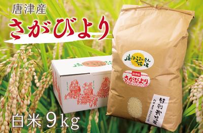 唐津産 さがびより(白米9kg/送料無料)