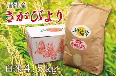 唐津産 さがびより(白米4.5kg/送料無料)