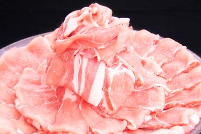 【冷凍】肥前さくらポークローススライス/(1kg/送料無料)