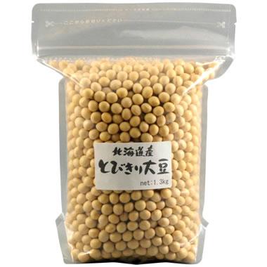 北海道産-とびきり大豆(鶴の子大豆)[1.3kg]