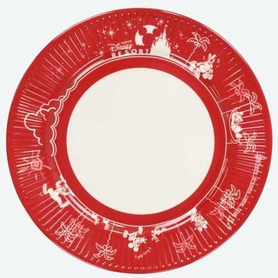 東京 ディズニーリゾート ディズニー 通販 ミッキーマウス パークフード プレート レッド 無料ギフトラッピング TDR ミッキー おみやげ お土産 皿 ケーキ皿 ケーキプレート メラミン