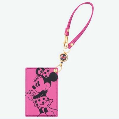 東京ディズニーリゾート ディズニー 通販 ミニーマウス リール付 薄型 パスケース ICカード ケース ミニー 無料ギフトラッピング 定期入 おみやげ お土産 スイカ パスモ ICカードホルダー