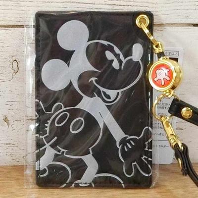 東京ディズニーリゾート ディズニー 通販 ミッキーマウス リール付 薄型 パスケース ミッキー 無料ギフトラッピング TDR ディズニーランド ディズニーシー 定期入れ おみやげ お土産
