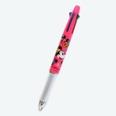 東京ディズニーリゾート ディズニー 通販 ミニーマウス ドクターグリップ 油性ボールペン 0.5mm 多機能ペン 黒 赤 青 緑 4色+シャープペン 無料ギフトラッピング  ミニー パイロット お土産