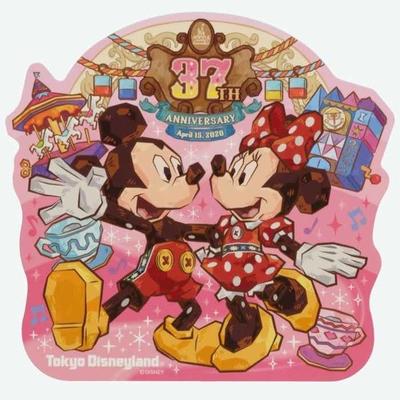 東京ディズニーランド ディズニー 通販 37周年 ミッキーマウス ミニーマウス ステッカー 無料 ギフトラッピング ミニー TDL ディズニーリゾート ディズニーシー シール おみやげ お土産
