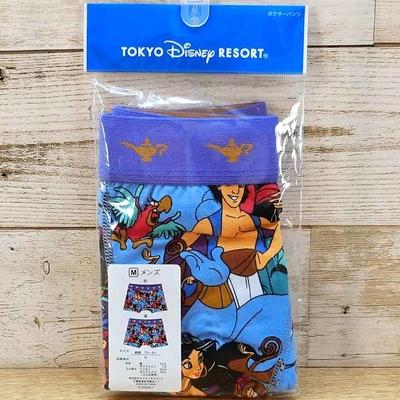 東京ディズニーリゾート ディズニー 通販 アラジン ボクサーパンツ Mサイズ 無料ギフトラッピング TDR  ジーニー ジャスミン ジャファー アブー イアーゴ おみやげ お土産 パンツ 下着 肌着