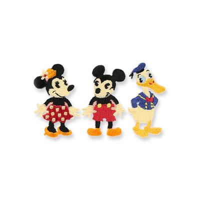 東京ディズニーリゾート ディズニー 通販 ハンディー クラフト ワッペン ミッキー ミニー ドナルド 3個セット ダイカット 無料ギフトラッピング TDR ディズニーランド ディズニーシー アイロン