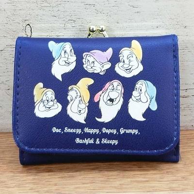 ディズニー 通販 7人のこびと 白雪姫 コンパクト財布 三つ折り財布 小銭入れ 無料ギフトラッピング ミッキー ギフト お土産 おみやげ 財布 がま口 おとぼけ おこりんぼ ごきげん ねぼすけ