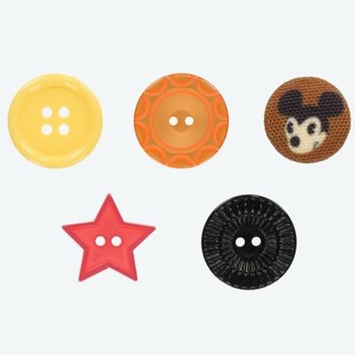 東京ディズニーリゾート ディズニー 通販 ハンディー クラフト ボタン 5個 セット ミッキーマウス 無料ギフトラッピング TDR ディズニーランド ディズニーシー おみやげ お土産 ミッキー
