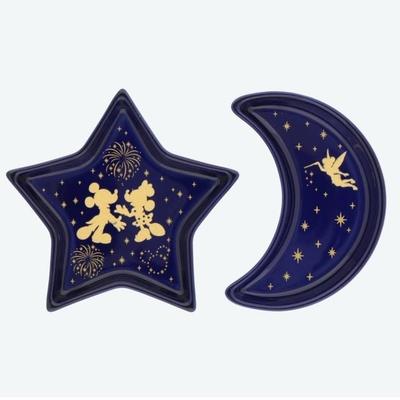 東京ディズニーリゾート 通販 ディズニー 夜空 ミニ プレート 月 星 2枚セット リゾートナイト 無料ギフトラッピング TDR ディズニーランド ディズニーシー おみやげ お土産  皿