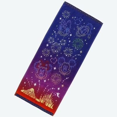 東京ディズニーリゾート 通販 ディズニー 夜空 フェイスタオル リゾートナイト 無料ギフトラッピング TDR ディズニーランド ディズニーシー おみやげ お土産 長方形 タオル
