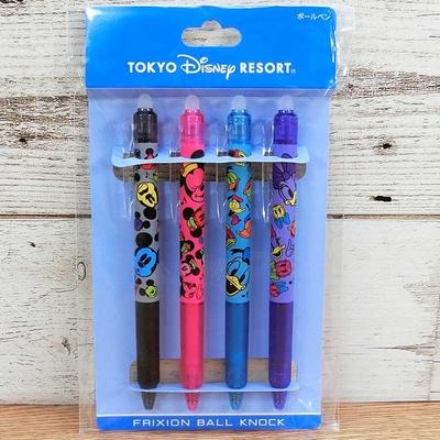 東京ディズニーリゾート ディズニー 通販 フリクションボールペン 4本セットカラー フェイシーズ 日本製 無料ギフトラッピング ミッキー お土産 おみやげ インク交換可