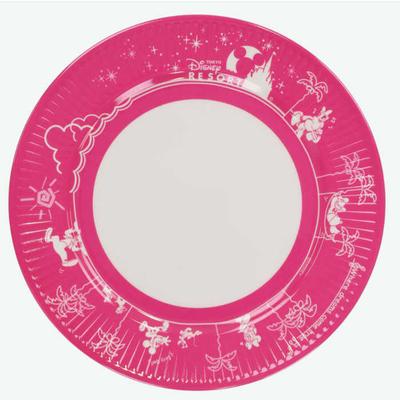 東京 ディズニーリゾート ディズニー 通販 ミッキーマウス パークフード プレート 【ピンク】 無料ギフトラッピング TDR ミッキー おみやげ お土産 皿 ケーキ皿 ケーキプレート メラミン