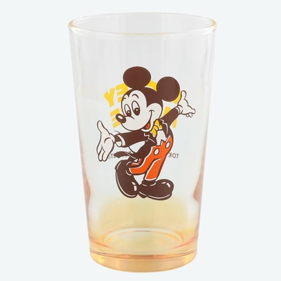 東京ディズニーリゾート 通販 ディズニー レトロ風 グラス ミッキーマウス 無料ギフトラッピング TDR ディズニーランド ディズニーシー おみやげ お土産 ミッキー コップ タンブラー