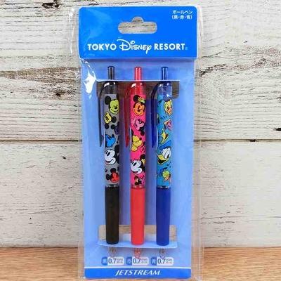 【TDR終売品】東京ディズニーリゾート ディズニー 通販 ジェットストリーム ボールペン 3本セット 日本製 無料ギフトラッピング ミッキーマウス ミニーマウス ドナルドダック お土産 三菱鉛筆