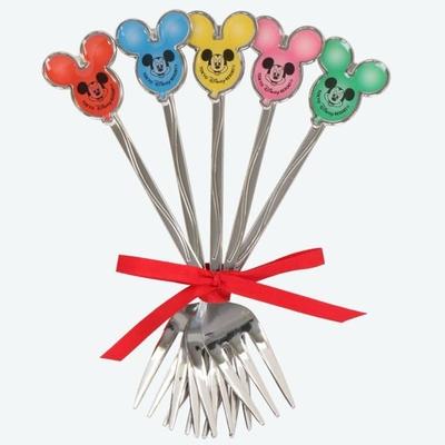 東京ディズニーリゾート ディズニー 通販 ミッキー バルーンシリーズ フォーク 5本セット 無料ギフトラッピング TDR ディズニーランド ディズニーシー カトラリー ミッキーマウス お土産 日本製