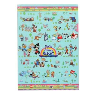 東京ディズニーリゾート The Tokyo Disney Resort シリーズ ディズニー 通販 オールキャラクター クリアホルダー ギフトラッピング クリアファイル クリアフォルダー A4