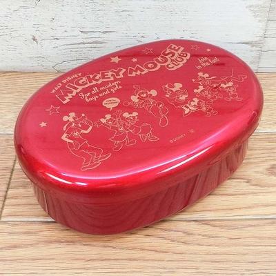 ディズニー通販 ミッキーマウス ミニーマウス ミッキーマウスクラブ 90周年 漆器 小判型 ランチ 弁当箱 無料ギフトラッピング ランチボックス おみやげ お土産 【日本製】 中子付 ランチベルト付